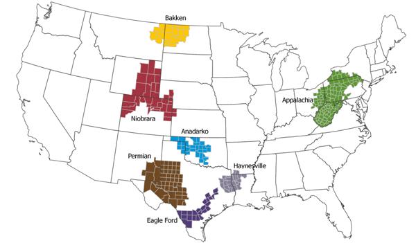 us shales map