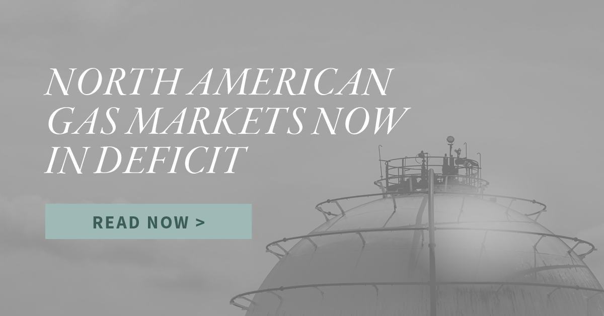 North American Gas Markets Now in Deficit